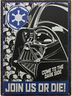Star Wars Join Us Or Die Tin Sign 30x40cm