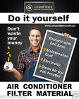 Air Conditioning / Heater Filter Material / Media G3 Certified-SELECT YOUR SIZE