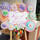 Hanging Tissue Paper Fans Fan Flowers Wedding Decoration Party Baby Shower JR