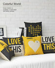 """Lovely LOVE Geometry Style Pillow Case Home Decor Cushion Cover Square 17"""" Linen"""