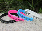 Jesus WWJD What would Jesus Do? Silicone Wristband Bracelet