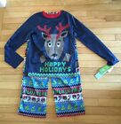 NWT Target Blue Reindeer Sweater-Like 2 Pc Pajamas ~Children Sizes~