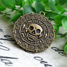ZAKKA Pirates Of The Caribbean Aztec Gold Ancient Cyan Skull Pendant DIY Jewelry