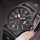 Waterproof Men's Military Army Watch Leather Date Analog Quartz Wrist Watches