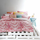 New Logan & Mason Java Watermelon Super King Size Quilt / Doona Cover Set Cotton