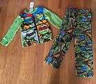 NWT Boys $36 Nickelodeon Teenage Mutant Ninja Turtles Fleece Pajamas Sz 4 or 6