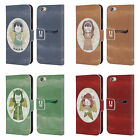 HEAD CASE DESIGNS CHRISTMAS ANGELS LEATHER BOOK CASE FOR APPLE iPHONE 6 6S
