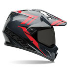 Bell MX-9 Adventure Helmet - Barricade Red/Grey Dual Sport Offroad Motorcycle