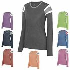 LADIES JERSEY LOOK, LONG SLEEVE, CREWNECK, COTTON/POLY T-SHIRT XS S M L XL 2X 3X