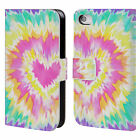 HEAD CASE DESIGNS PSYCHEDELIC LOVE LEATHER BOOK CASE FOR APPLE iPHONE 4 / 4S