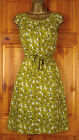 NEW WHITE STUFF IVORY GREEN FLORAL VINTAGE STYLE SUMMER TUNIC TEA DRESS UK 8-18