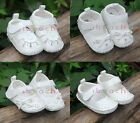 Infant Todder Baby Girl White Mary Jane Sandals Crib Shoes Newborn to 18 Months