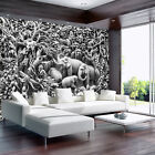Photo Wallpaper BLACK AND WHITE AFRICA WILDLIFE Wall Mural (3528VE)