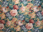Westgate Maxim vintage faux warp print floral fabric by the yard color papaya