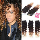4 bundles Brazilian Virgin Curly Human Hair Extensions 3 Tone unprocessed 200g