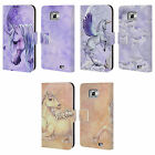 OFFICIAL SELINA FENECH UNICORNS LEATHER BOOK WALLET CASE FOR SAMSUNG PHONES 2