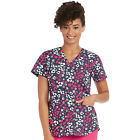 Nrg by Barco Uniforms Women's V-Neck Floral Print Scrub Top 3157 CFL