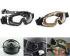 Airsoft Paintball Tactical Military Goggle Glasses for Helmet with Side Rails