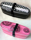 Japan Bento Lunchbox Food Container Lunch Box CASE chopstick Bag set black pink