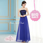 MARIE Cobalt Blue & Black Lace Chiffon Prom Evening Bridesmaid Dress UK SALE!!