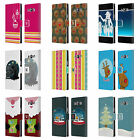 HEAD CASE MIX CHRISTMAS COLLECTION LEATHER BOOK WALLET CASE FOR SAMSUNG PHONES 3