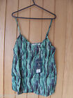 Jack Wills Ladies Shaley Cami Top Blue Feather  Size 8 10 NEW RRP £29.50 (Ref Z)