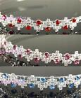 SALE Prom Clear Red Blue Purple Pink Crystal Headband Tiara Bridemaid Party T079