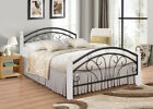 Single Double Metal Bed and Memory Foam Mattress in 15 cm Thick Dirty Oak Bed