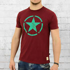 Alpha Industries T-Shirt Star T Herren weinrot Männer Men's Tee wine red
