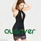 Fashion Women's Black Lace Dress Backless Halter Above Knee Clubwear Brand New