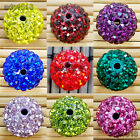 50pcs Quality Czech Crystal Rhinestones Pave Clay Disco Ball Spacer Beads 10mm