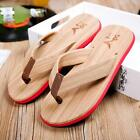 Summer Men Wood Beach Sandals Flip-Flops Woodgrain Mens Size 8-9.5