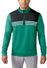 Adidas ClimaCool Colorblock 1 4 Zip Layering Top Golf Pullover Mens New