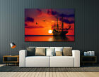 Pirate ship,Huge canvas print, wall art decor ,multiple panels available