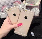 New 3D mouse Crystal Bling Cute Ears Soft Transparent TPU For iPhone 6 6S 4.7