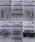 Dovecraft Clear Photopolymer Stamp Assorted BIRTHDAY candle balloon celebrate