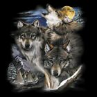 NEU Biker Chopper Fantasy T-Shirt Wolf Wölfe Wolves & Village S - 6XL