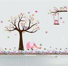 Tree branch Owl  elephant I Wall Art Stickers Kids Nursery Vinyl Decal removable