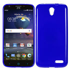 Blue Slim Solid Matte TPU Style Protector Cover Phone Case ZTE Chapel Z831