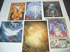6 ASSORTED PETER PRACOWNIK  POSTCARDS  ( B )