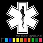 Star of Life Sticker Vinyl EMT Decal Ambulance Medical Emergency Paramedic EMS