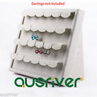 Linen Cover Earring Stand Jewelry Show Display Stand Holder Organiser Brand New