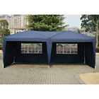 10'X20' Easy POP UP Wedding Party Tent Foldable Gazebo Canopy Shelter W/4 Walls
