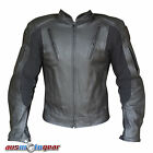 Motorcycle Leather Jacket Air Vents 5 PCE CE ARMOUR INCLUDED