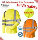 Kyпить Hi Vis T Shirt ANSI Class 3 Reflective Safety Lime Long Sleeve HIGH VISIBILITY на еВаy.соm