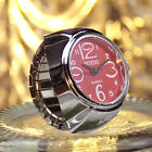 1p Girl Worship Unique Steel Round Dial Stylish Elastic Quartz Finger Ring Watch