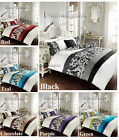 "Luxury ""SCROL"" Duvet Cover Set Quilt Cover Bedding Set Single Double King S.King"