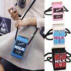 Women Shoulder Bag Handbag Milk Cartons Box Canvas Crossbody Bags Messenger DZ88