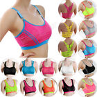 chest wrap - Women Lady Sports Bra Yoga Athletic Solid Wrap Chest Strap Vest Tops Padded Bra