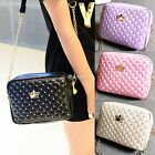 Fashion Women's Artificial leather Rivet Chain Embossed Messenger Bags Satchel